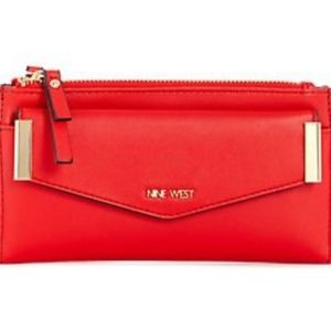 🆕️Nine West Red Faux Leather Wallet & card Case
